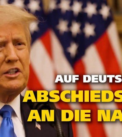 Trumps Abschiedsrede aus dem Weißen Haus